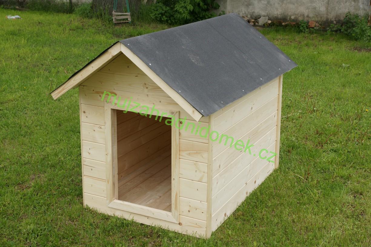 """Psí bouda velikosti """"M"""", 60x80x70, sedlová střecha"""