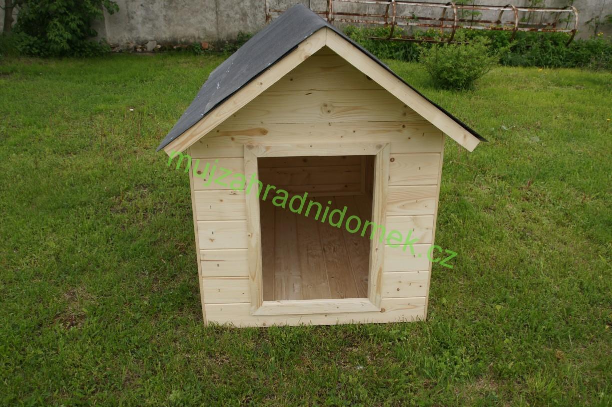 """Psí bouda velikosti """"S"""", 40x60x50, sedlová střecha"""