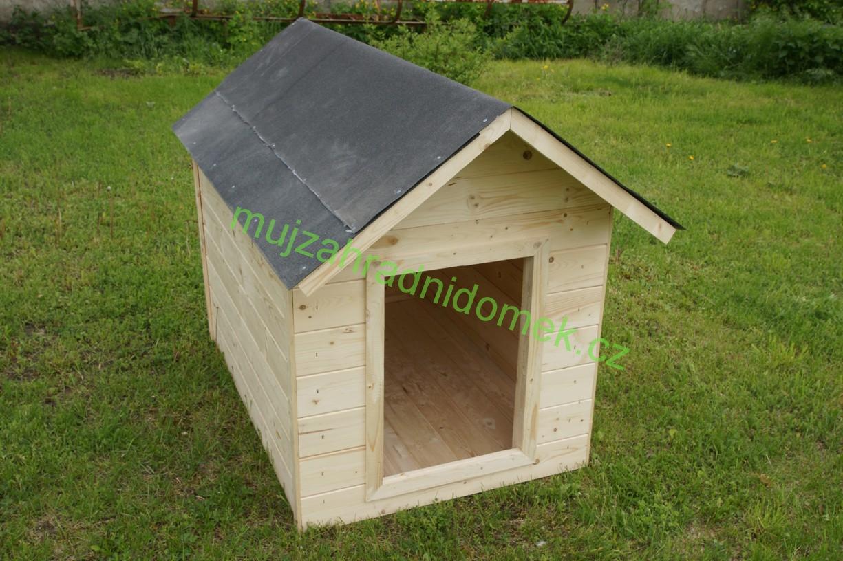 """Psí bouda velikosti """"L"""", 80x100x90, sedlová střecha"""