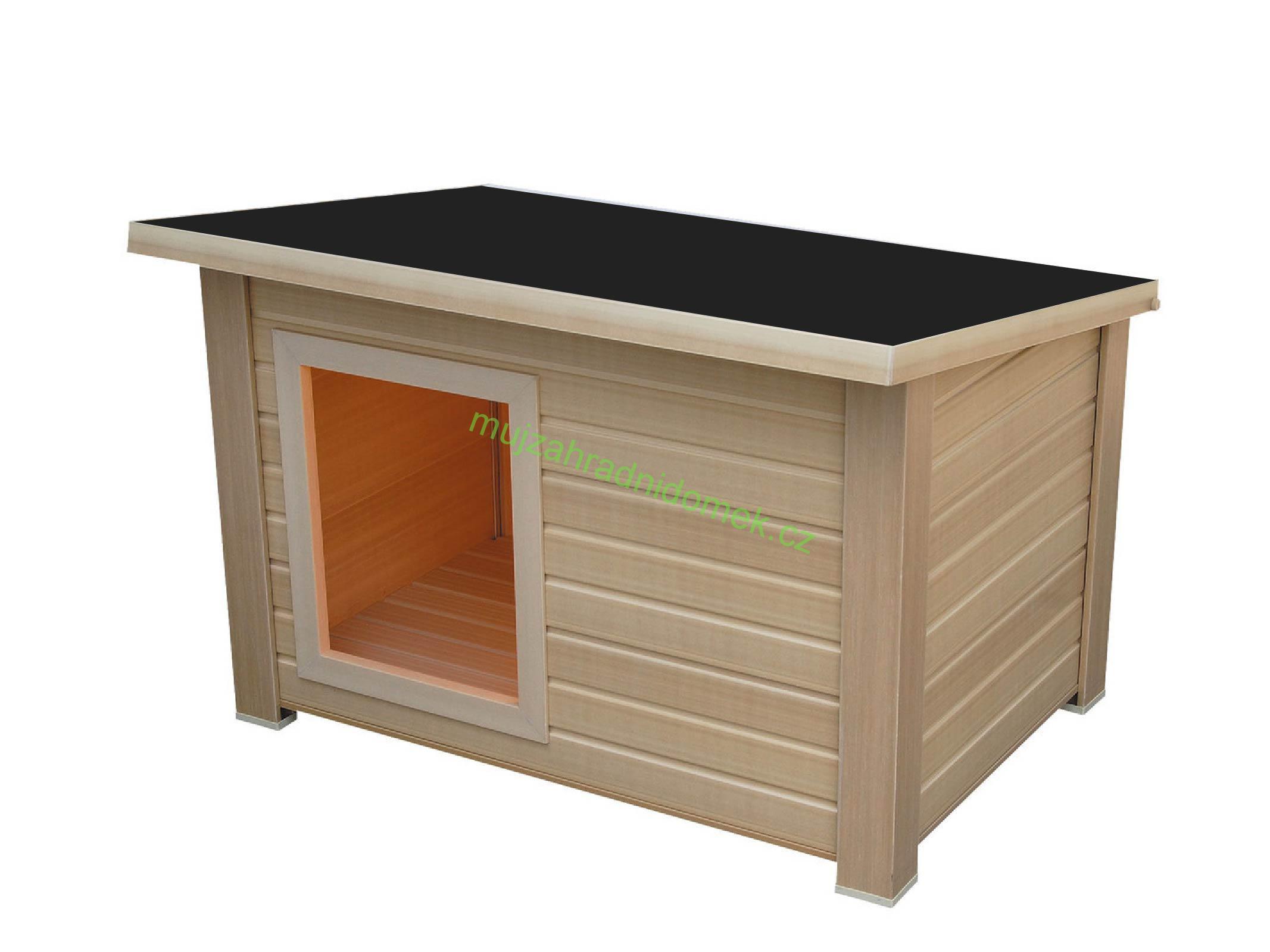 """Psí bouda velikosti """"M"""", 80x60x60, plochá / rovná střecha"""