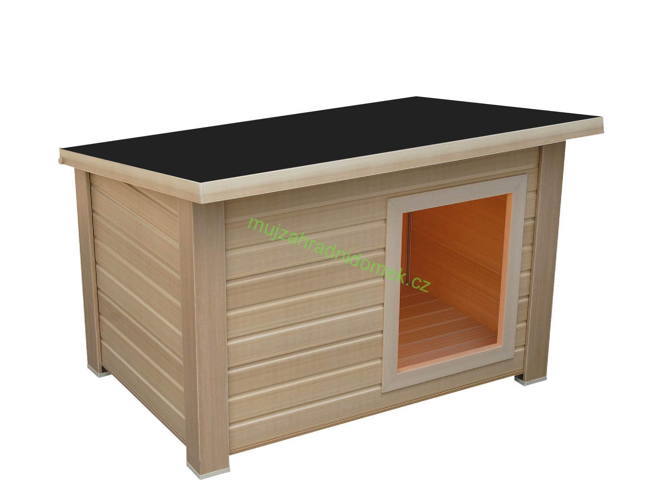 """Psí bouda velikosti """"XL"""", 120x100x80, plochá / rovná střecha"""
