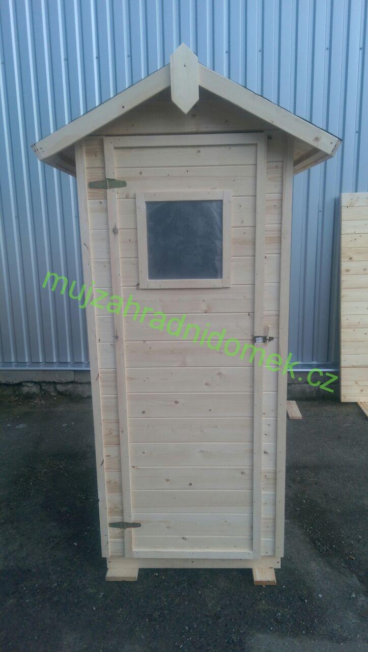 Kadibudka / Latrína / Suché WC se sezením a oknem, 1 x1m, 16mm