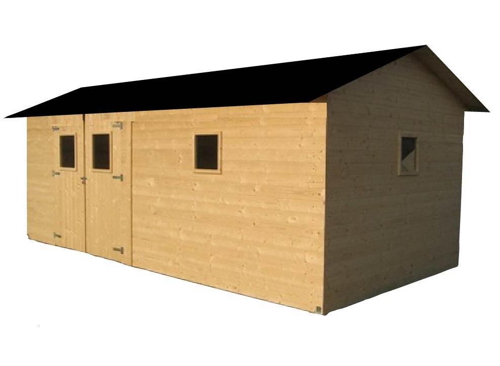 Zahradní dřevěný domek ALACANT (19mm), s okny, rozměr 3,3 x 6,3m, v.2,3m