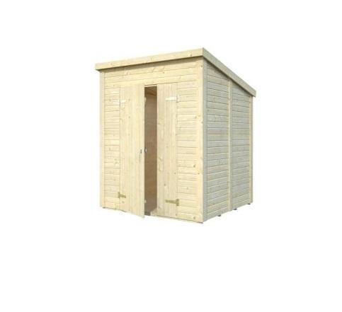 Zahradní dřevěný domek 2,2 x 2,2 m, 16mm, rovná / pultová střecha