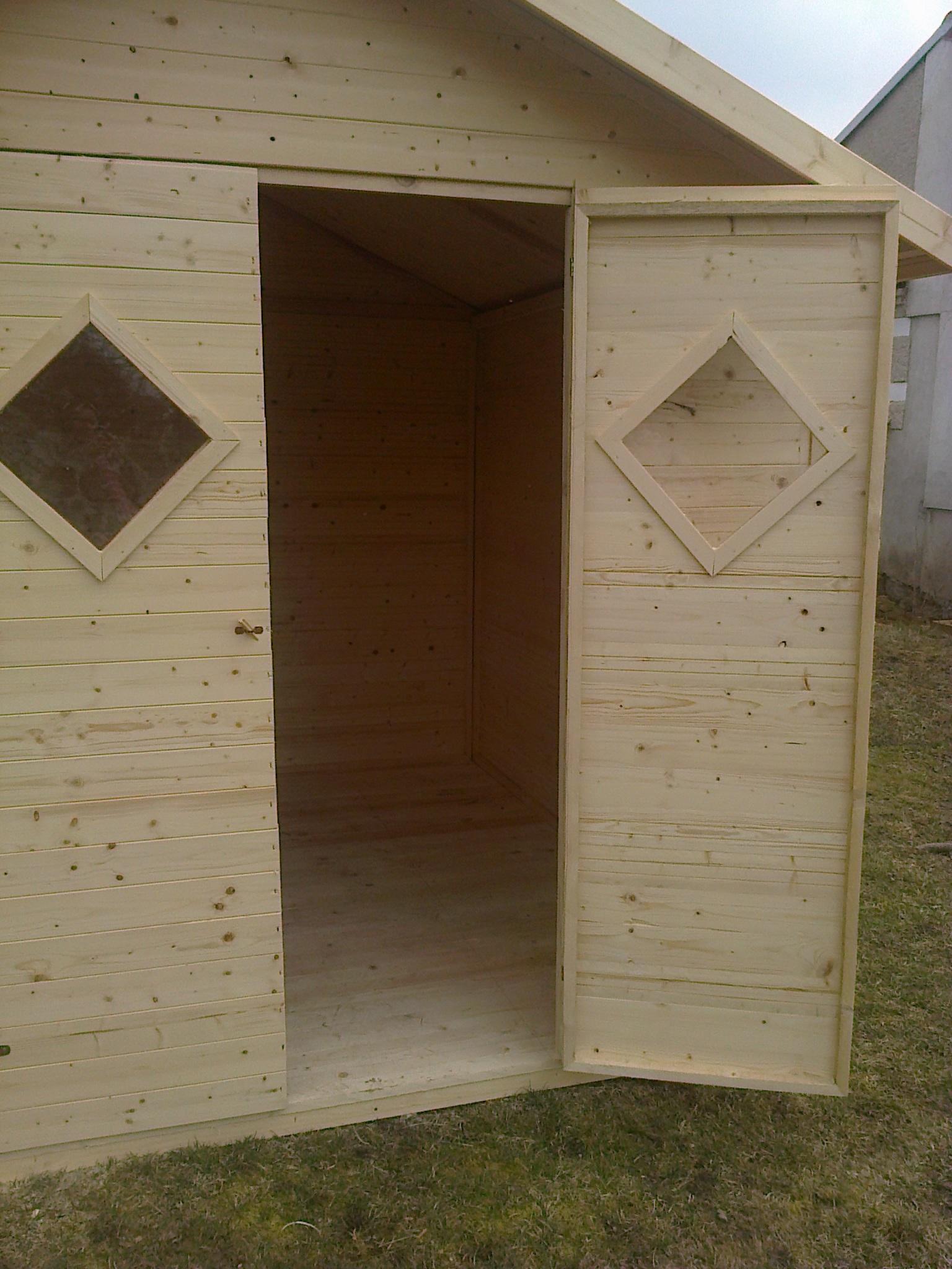 Zahradní dřevěný domek 2,7x3,9m, (16mm) s okny, ZARAGOZA