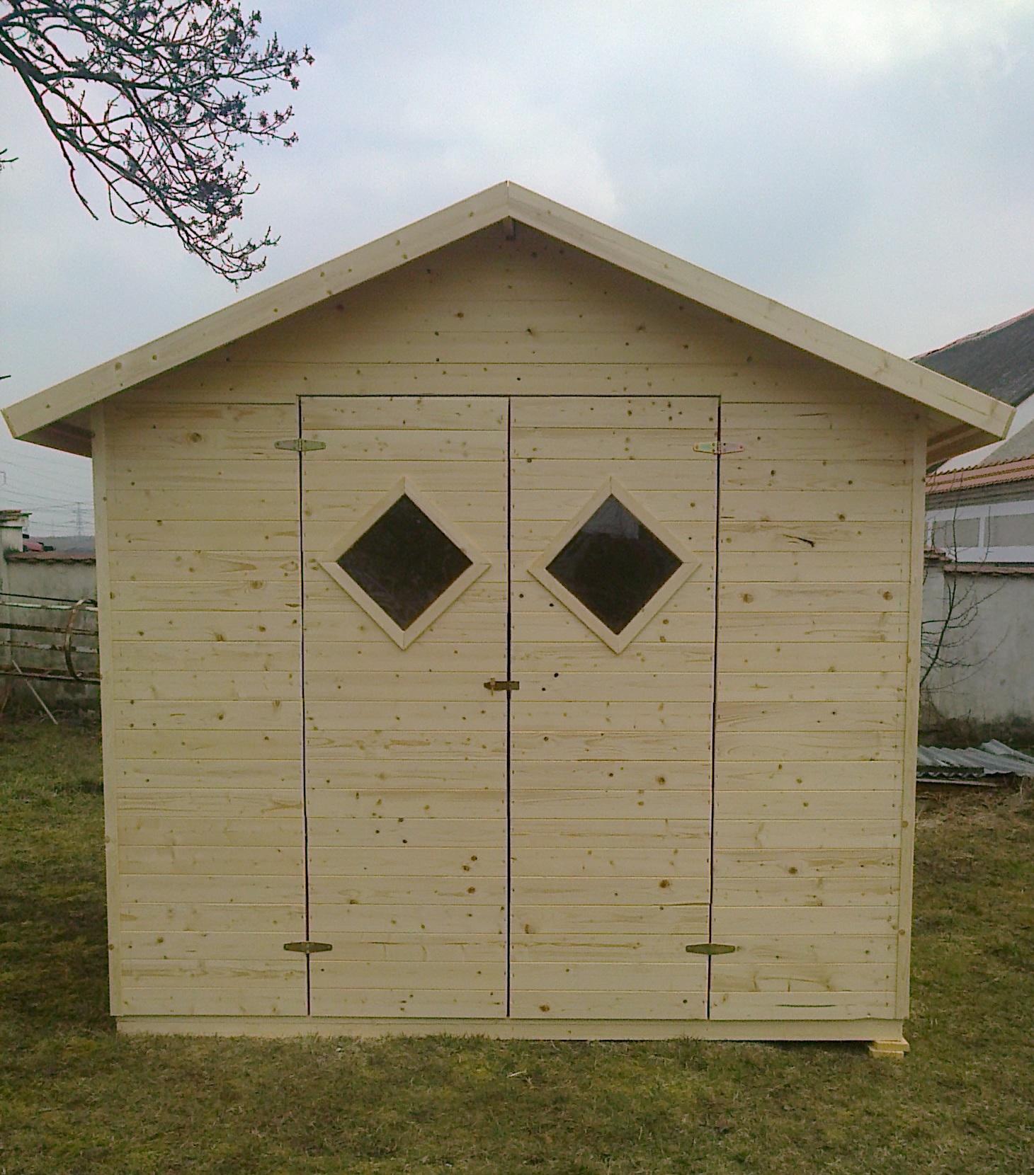 Zahradní dřevěný domek 3,3x3,3m (19mm) s okny BARCELONA