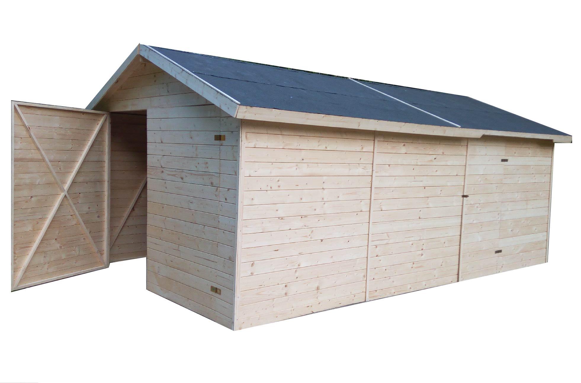 Dřevěná garáž 3,3x4,8m (19mm)