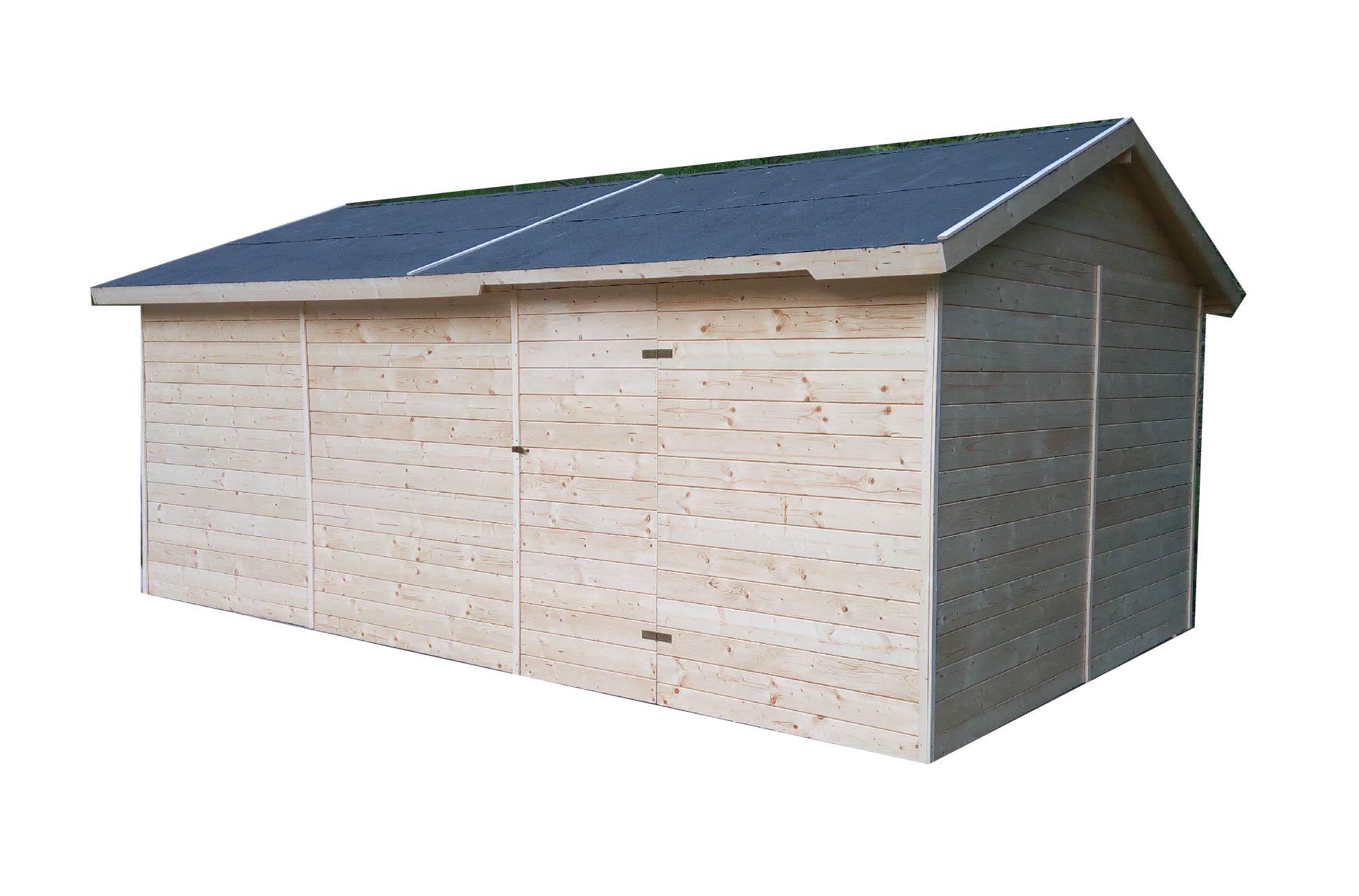 Dřevěná garáž 3,3x5,3m (19mm)