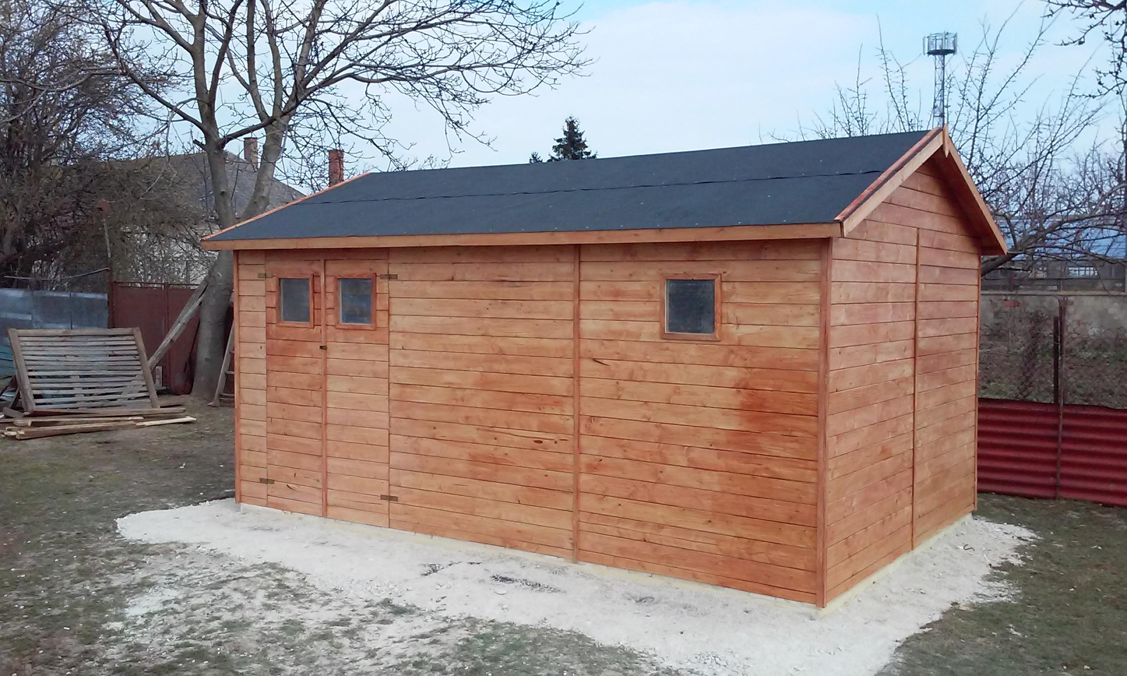 Zahradní dřevěný domek GANDIA (16mm), s okny, rozměr 3,3 x 4,8m, v.2,3m