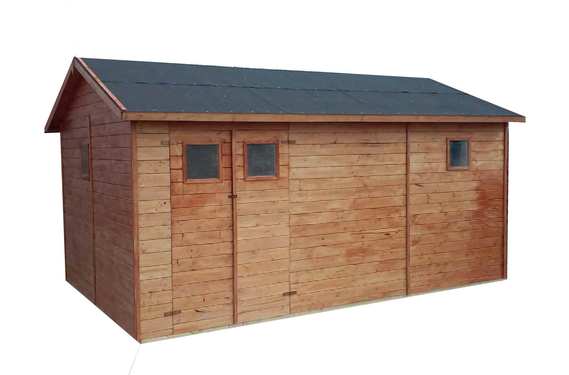 Zahradní dřevěný domek GANDIA (19mm), s okny, rozměr 3,3 x 4,8m, v.2,3m