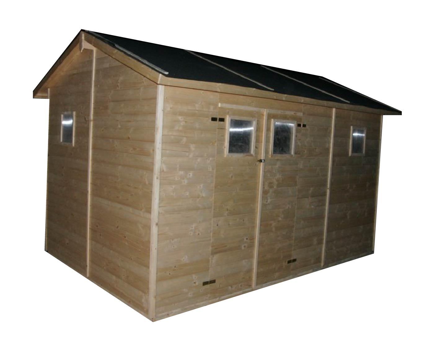 Zahradní dřevěný domek DÉNIA (16mm) s okny, rozměr 3,3 x 3,9m, v.2,3m