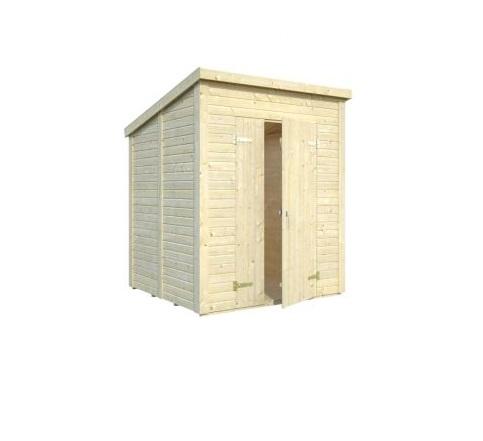 Zahradní dřevěný domek 2,6 x 2,6 m, 16mm, rovná / pultová střecha