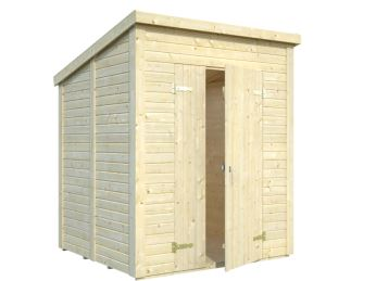 Zahradní dřevěný domek 3,2 x 3,2 m, 19mm, rovná / pultová střecha