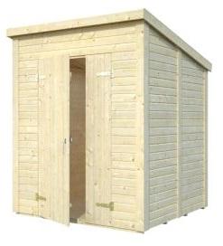 Zahradní dřevěný domek 3,8 x 3,8 m, 16mm, rovná / pultová střecha