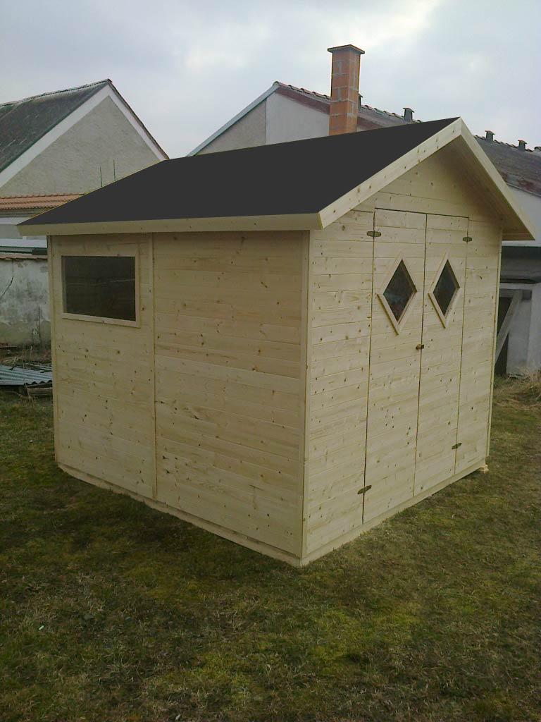 Zahradní dřevěný domek 2,7x2,7m, (12mm) s okny, MALAGA, na nářadí
