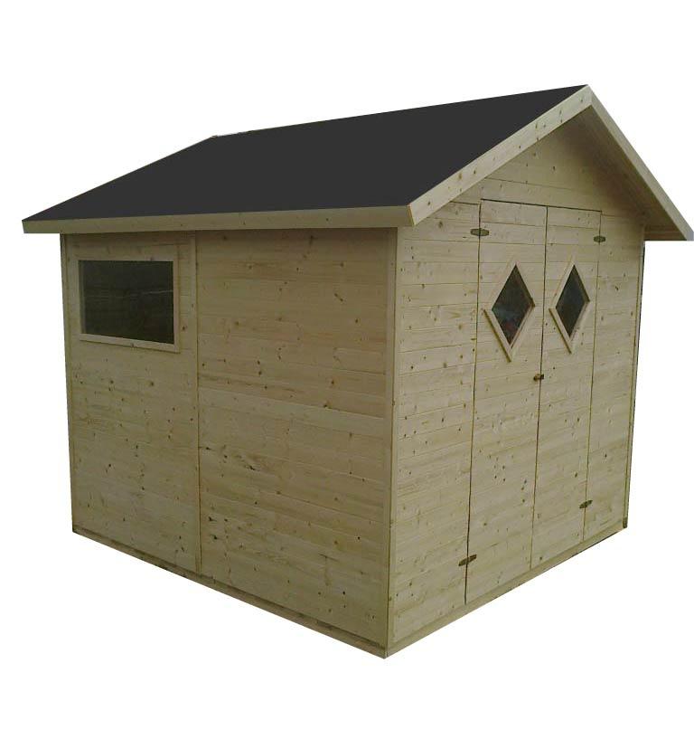 Zahradní dřevěný domek 2,7x2,7m, (16mm) s okny, MALAGA, na nářadí