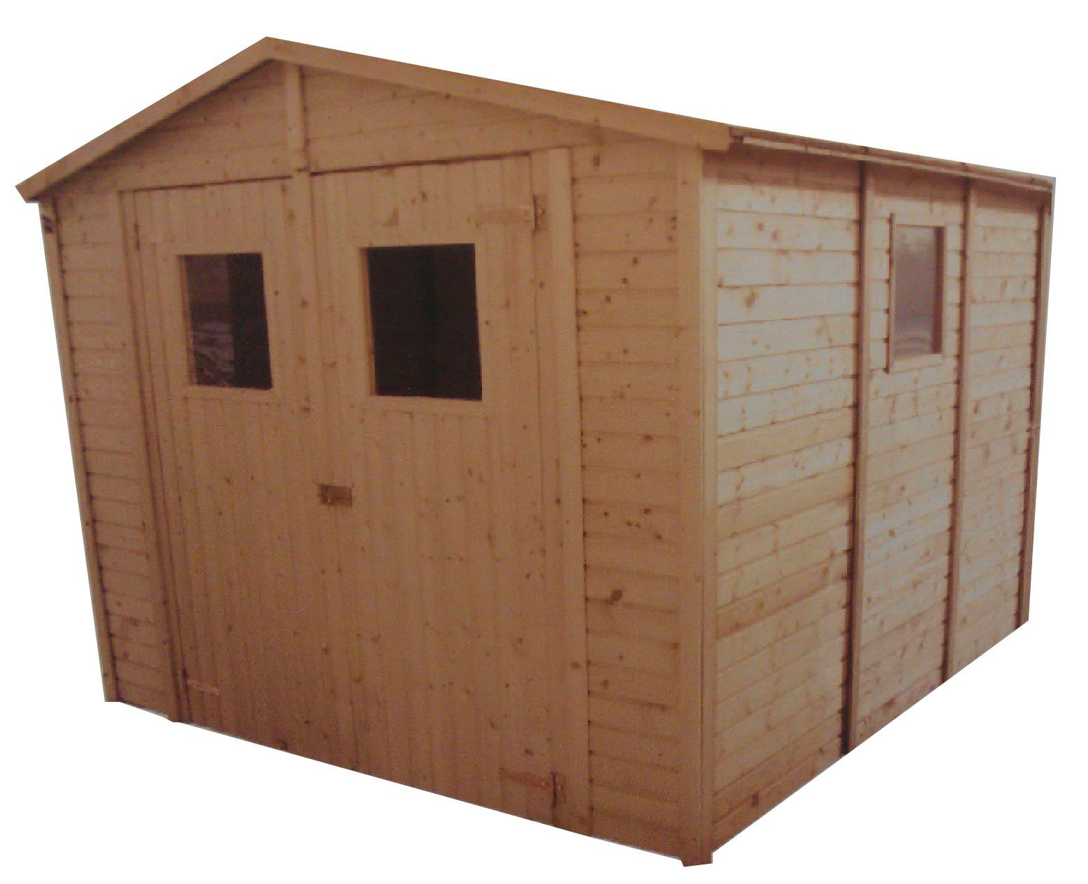 Zahradní dřevěný domek 3,3x3,9m (16mm) s okny SEVILLA II