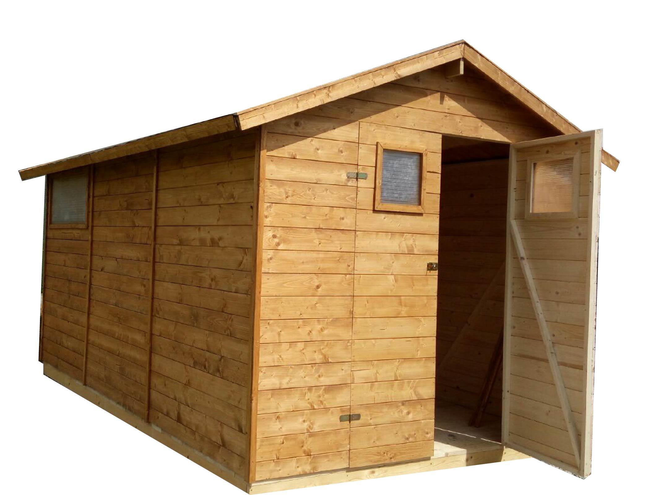 Zahradní dřevěný domek 2,7x3,9m, (19mm) s okny, SEVILLA