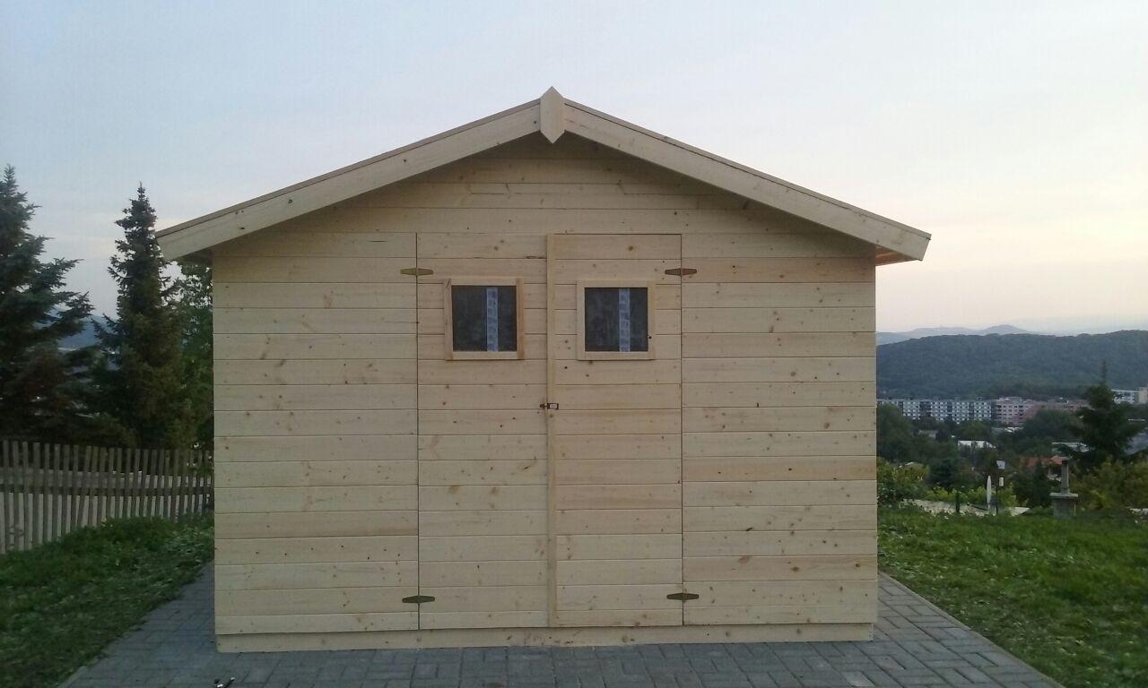 Zahradní dřevěný domek 3,3x3,3m, (16mm) s okny, MADRID