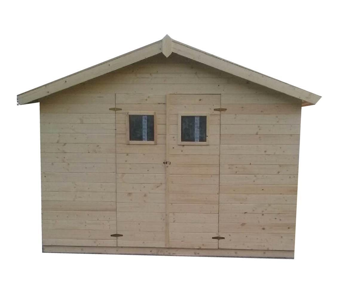 Zahradní dřevěný domek 3,3x3,3m, (19mm) s okny, MADRID