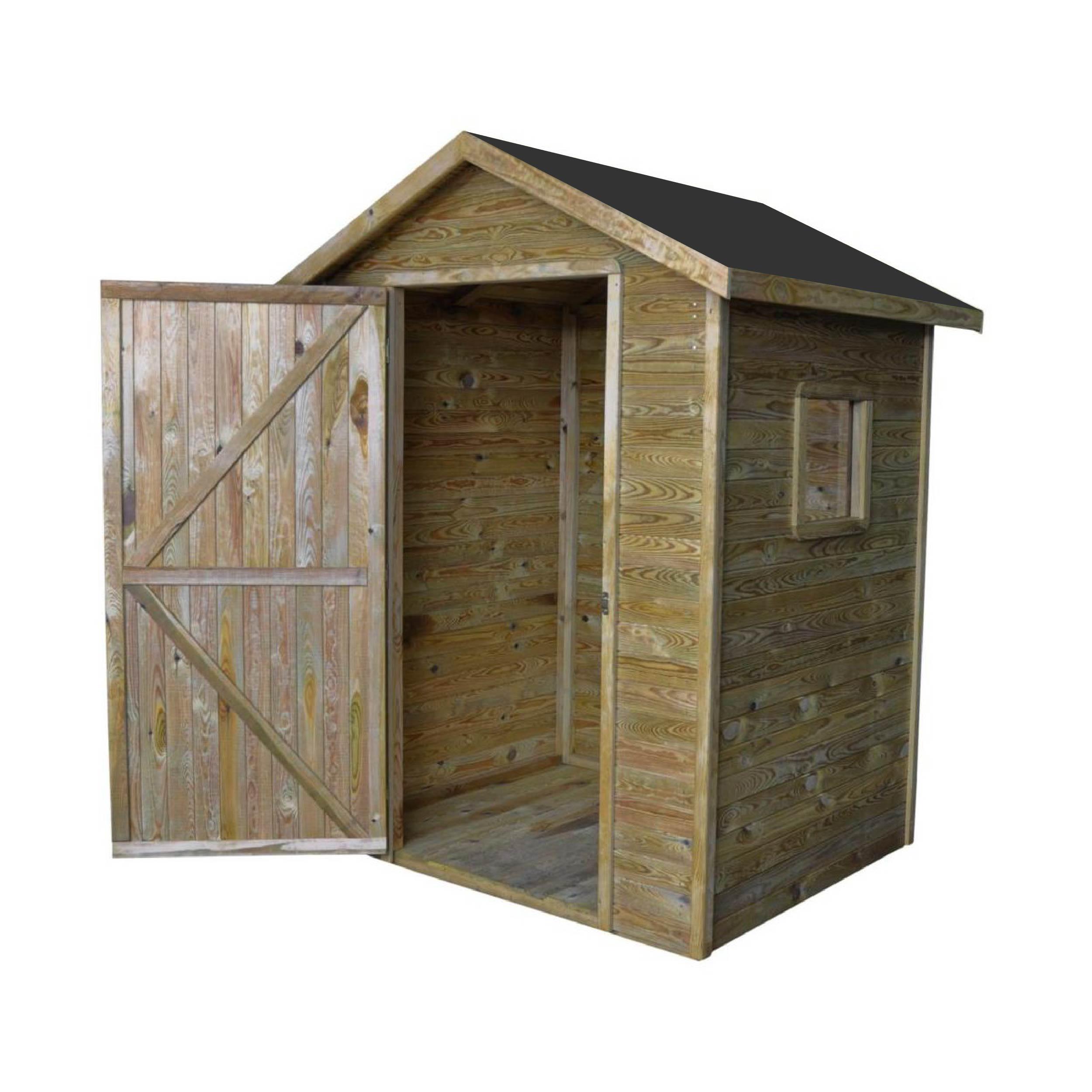 Zahradní dřevěný domek 1,5x1,5m, (12mm), s oknem, ZAMORA