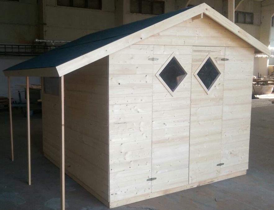 Zahradní dřevěný domek 4x3,3m (16mm) s okny s přesahem střechy