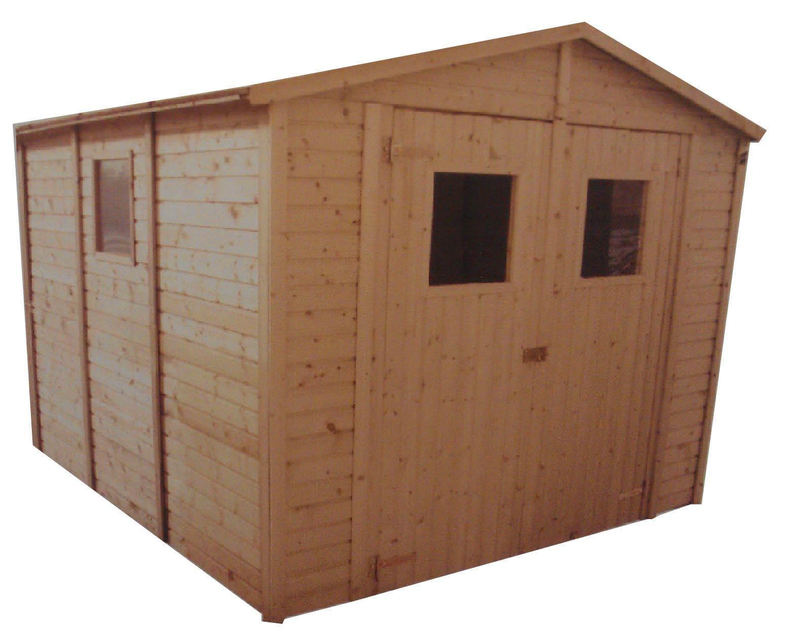 Zahradní dřevěný domek 3,3x3,9m (19mm) s okny SEVILLA II